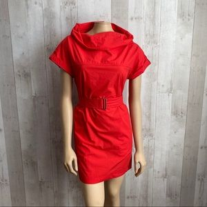 ❌SOLD❌ [MaxMara] Cowl Neck Belted Sheath Dress